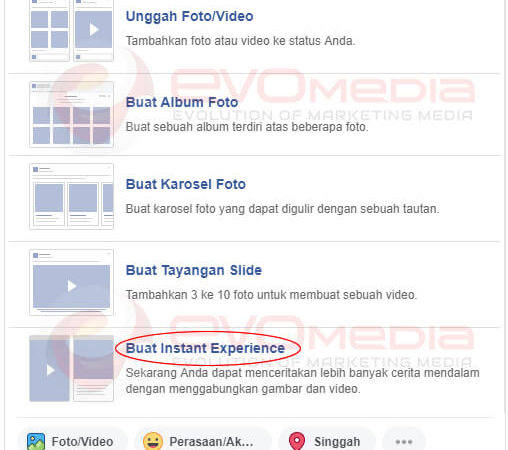 buat instant experience
