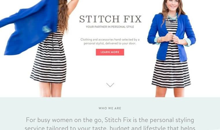 Contoh Landing Page Fashion