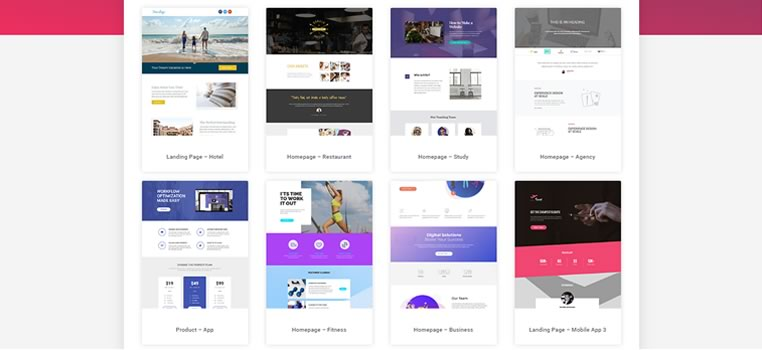 Template Landing Page Elementor